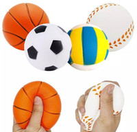 Stressball Squishy Sportball Soft Jumbo Scented Squeeze Slow Rising Simulation Sportball Kinderspielzeug