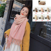 Hot High Quality 48 Color Simple Knitted Gradient Scarf Popu...