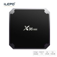 HOT 2GB 16GB X96 mini boîte TV Quad Core Smart 4K TV Box Amlogic s905W X96 mini boîtes de streaming 1pcs livraison gratuite