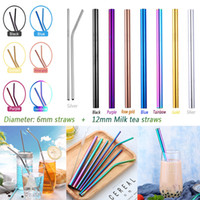 Stainless Steel Colored Drinking Straws High Quality 304 Reu...