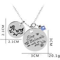 She Believed She Could So She Did Unicorn pendant Blue Bead ...
