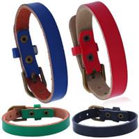 Pelle bovina Belt Buckle cuoio del braccialetto di colore Adjustbale braccialetto del braccialetto per i monili di uomini amanti braccialetto della donna regalo regalo di Natale