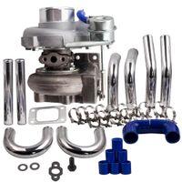 T25 T28 GT2871 Turbo Turbolader + 2,5 Zoll 64mm Ladeluftkühler Rohrleitungskits