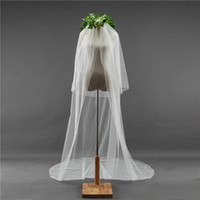 2018 New High Quality Long White Ivory Wedding Veil Appliques Lace Beaded Bridal Veils Bride Wedding Accessories For Wedding Dresses QC1218