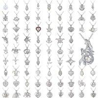 Natürliche Frischwasserperlenkette Cage Anhänger Silber Pated Anhänger Perlenschmuck für Frauen Gem Perlen Cage Anhänger Hochzeitsgeschenk 50 Arten