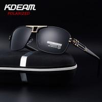KDEAM de magnesio y aluminio de los hombres de las gafas de sol polarizadas capa de espejo Gafas de sol Gafas oculos masculino accesorios para hombres