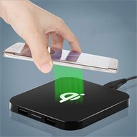 Portable QI wireless charger iphone chargers Dual USB Q8 sta...