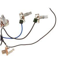 Câblage pré-câblé 2v2t 3way Commutateur à bascule Jack 500k Pots pour remplacement guitare- 1 jeu