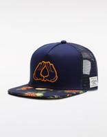 spedizione gratuita a buon mercato cappello di alta qualità classica moda hip hop marchio uomo donna mesh snapbacks navy / mc CS WL BK FRUITS TRUCKER CAP
