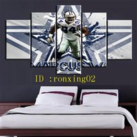Football Players - 6, 5 Pieces Home Decor HD Printed Modern Ar...