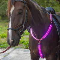 USB Rechargeable LED Horse Breastplate Horse Harness Night V...