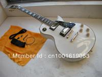 envío gratis de calidad superior LP CUSTOM WHITE guitarra eléctrica de cinco estrellas panel de la firma
