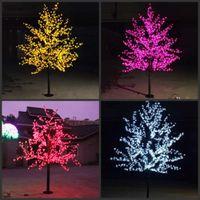 LED Cherry Blossom Tree Light 480 шт. Светодиодные лампы 1,5 м Высота 110 / 220VAC Семь цветов для варианта непромокаемой наружного использования Drop Доставка