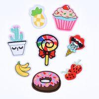 Custom Design Stickerei-Frucht-Abzeichen Aufnäher für Kleidung Eisen auf Übertragung Applikationen Aufkleber für Hut Jacke Jeans DIY Tasche Patches