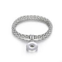 Noosa оснастки ювелирные изделия золото серебро металл 18 мм кнопка оснастки Эластичный браслет для женщин мужчин кнопка оснастки ювелирные изделия