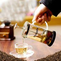 صانع القهوة الصحافة الفرنسية اليد 600 مل Cafeteira إسبرسو الزجاج المقاوم للصدأ آلة القهوة تصفية القهوة وعاء مزحلة