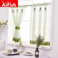 Romantische Süße Spitze Hausgarten Bildschirme Half Coffee Vorhang Küche Staubdicht Vorhänge Balkon WC Pritition Curtain-40