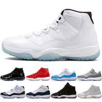 11 11S kap ve elbise balo gece erkek basketbol ayakkabı platin tonu spor salonu yetiştirilmiş PRM Heiress Barons Concord 45 Paskalya Gri Erkek Spor Sneakers # 1