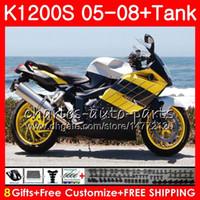 Тело для OEM K1200 S K 1200 S 05 10 K1200S желтое серебро 05 06 07 08 09 10 103 мм.9 к-1200с K 1200S 2005 2006 2007 2008 2009 2009 2011