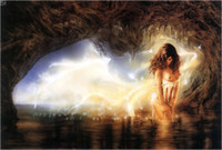 Luis Royo Fantasy Art Girl, Oil Painting Reproduction High Qu...