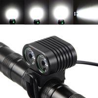 8000 التجويف XM-L2 led دراجة المصباح دراجة ضوء الدراجات الجبهة مصباح كشافات 4 طرق قابلة مضيا الشعلة دراجة دراجة
