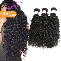 9A Deep Wave 3Bundles Brazilian Human Hair Weaves 100% Unpro...