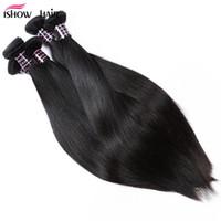 Pour Femmes Noires Extensions de Cheveux Raides Indien Péruvien Bundles De Cheveux Humains Pas Cher 8A Bundles De Cheveux Brésiliens 10 PCS En Gros Livraison Gratuite