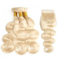 Unprocessed Brazilian virgin hair Body Wave bundles with clo...