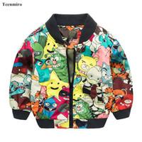 Mode Kids Jacket Boys Monster Coat Barn Tecknad Blazer Enfant Baby Bomber Jacka 2-7 y Spring Autumn Child Coat
