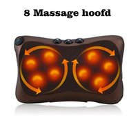 8 4 Head Neck Massager Car Home Shiatsu Massage Neck Relaxat...