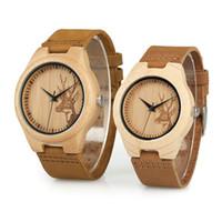 BOBO BORD Nuevos amantes Relojes de madera Hombres Mujeres Top Brand Luxury Horloges Vienen con caja de regalo de papel Envío de la gota