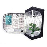 HOT 24 24 48 inch / 61 61 122 cm Crescer Tenda com Janela de Jardinagem Preta suprimentos de cultivo de hortas interiores fontes de crescimento de plantas tendas