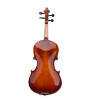 Violino de violino acústico natural tamanho total 4/4 com caso arco resina