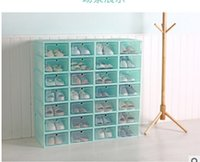 Transparent Plastic Shoes Storage Box Japan Style Drawer Sty...