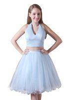 2 pièce robe de mariage de Boho de robe de mariage de plage robes de mariée courtes robe de demoiselle d'honneur sexy courte CMW0019