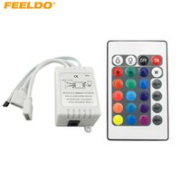 FEELDO سيارة ميني IR LED تحكم الشريط الشريط لاسلكي 24 مفاتيح عن بعد ل 3528 5050 RGB LED قطاع أضواء # 3903