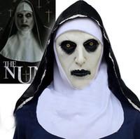 Die Nonne Cosplay Maske Kostüm Latex Prop Helm Valak Halloween gruseliger Horror, der gruselige Spielzeug-Party-Kostüm-Requisiten TO933 zaubern