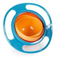 Haute Qualité Alimentation Pour Bébé Jouet Infantile Pour Bébé Universel 360 Rotation Vaisselle Bol Étanche Plats Drôle Cadeau Bébé Accessoires 3 Couleurs