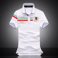 2018 Poloshirt 단색 폴로 셔츠 남성용 Luxury Polo Shirts 남성용 기본 탑 면화 폴로 소년 용 브랜드 디자이너 Polo Homme MP068