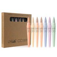 Menow Marka 6 Renkler / set CC Kapatıcı Nokta Çıkarma aydınlatın Kapatıcı Krem Onarım Kalem Doğal Kozmetik
