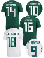 e7535ed91 nuevo 2018 Mexico Soccer Jersey Local Visitante 18 19 mexicanos CHICHARITO  G DOS SANTOS C.