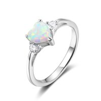 high quality Moon White Fire Opal Heart Cut White Sapphire 9...