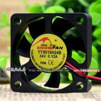 Para SNOWFAN YY5015H24B 5015 ventilador de refrigeración 5CM 24v ventilador de doble bola inverter