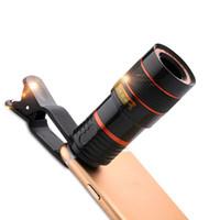 Универсальный клип 8X 12X зум сотовый телефон телескоп объектив телеобъектив внешний смартфон объектив камеры