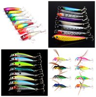 8- color Hard Plastic Lures Fishing Hooks Fishhooks 3D Eyes F...