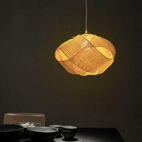 Bamboo vimini rattan nuvola paralume pendente lampada a sospensione giapponese tatami appeso soffitto lampada a soffitto plafon lustro Avize luminaria design llfa