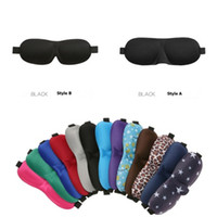 Hot 13 Corlos 3D Sleep Máscaras Eyeshade Cover Natural Sleeping Eye Mask Hombres Mujeres Travel Eye Patch Ayuda Relax Rest Blindfold Eyepatch herramienta