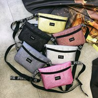 10 Colors Pink Letter Printed Fanny Pack Beach Travel Cosmet...