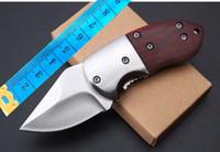 Toptan mini Güzel Browning ahşap kolu Kamp Avcılık Survival Bıçak Toka EDC Araçları Açık bıçak katlanır hediye bıçak