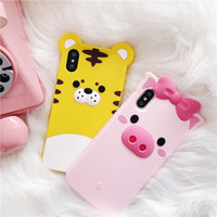 Luxury 3D Lovely Cartoon Tiger Pink Pig Case For iPhone 6 6S...